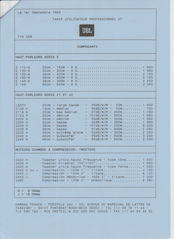 Tarif neuf du vintage pour donner une idée (gamme HIFI et pro de la fin des années 70 au début des années 2000) Numzo719
