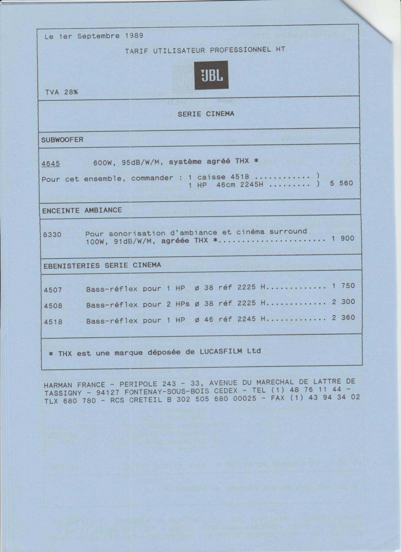 Tarif neuf du vintage pour donner une idée (gamme HIFI et pro de la fin des années 70 au début des années 2000) Numzo720