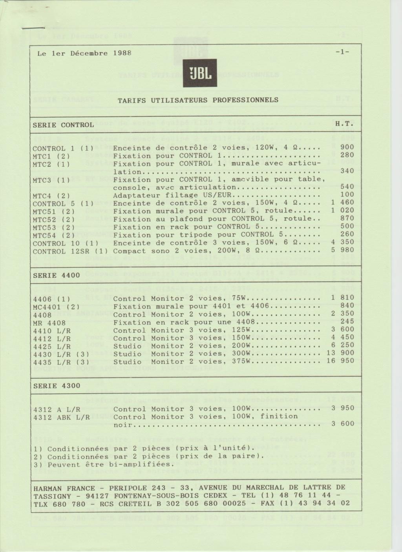 Tarif neuf du vintage pour donner une idée (gamme HIFI et pro de la fin des années 70 au début des années 2000) Numzo722