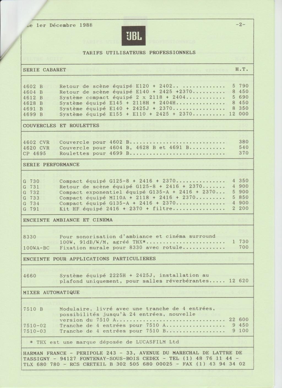 Tarif neuf du vintage pour donner une idée (gamme HIFI et pro de la fin des années 70 au début des années 2000) Numzo723