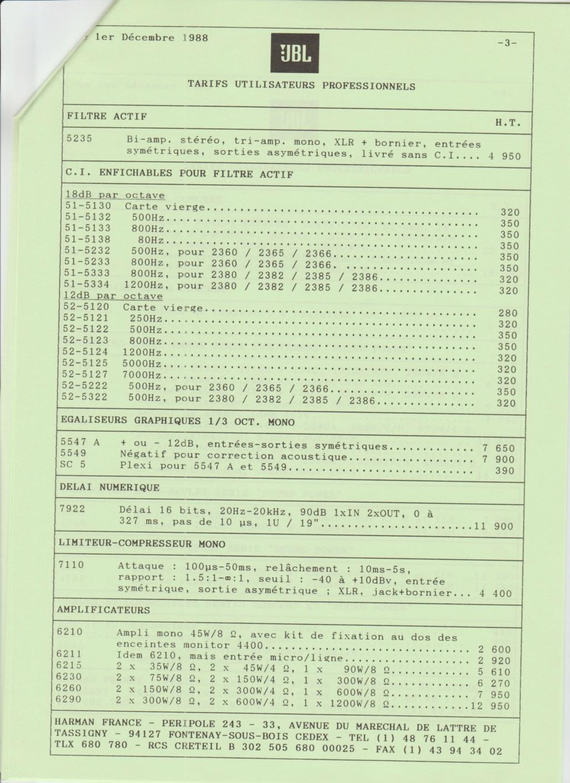 Tarif neuf du vintage pour donner une idée (gamme HIFI et pro de la fin des années 70 au début des années 2000) Numzo724