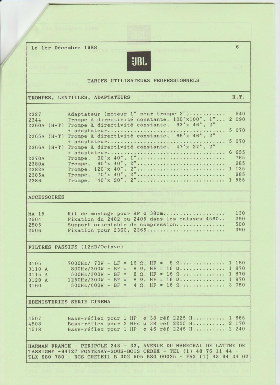 Tarif neuf du vintage pour donner une idée (gamme HIFI et pro de la fin des années 70 au début des années 2000) Numzo725