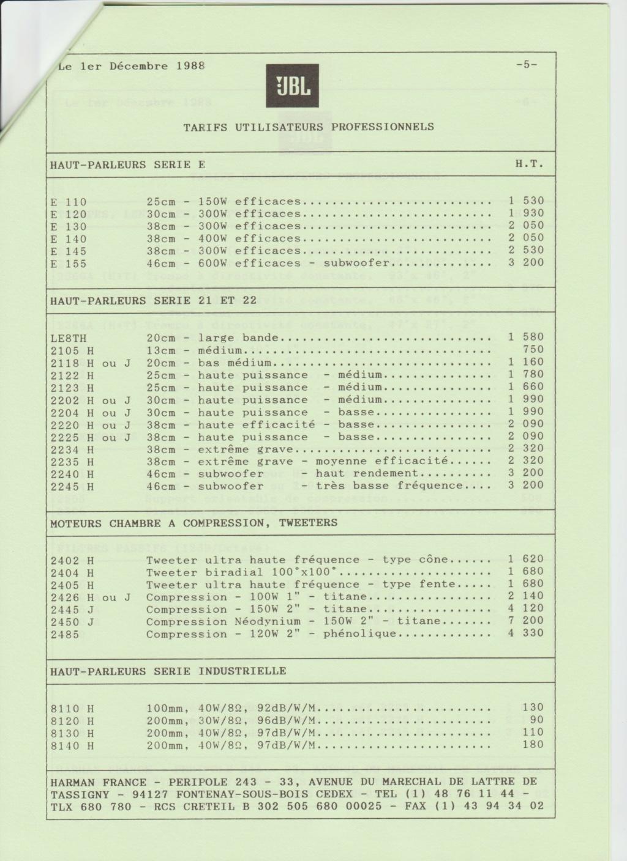 Tarif neuf du vintage pour donner une idée (gamme HIFI et pro de la fin des années 70 au début des années 2000) Numzo726