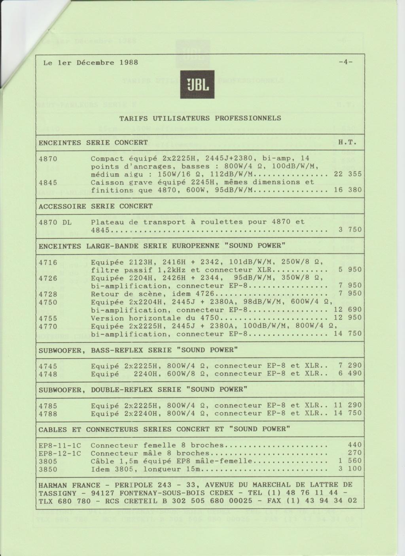 Tarif neuf du vintage pour donner une idée (gamme HIFI et pro de la fin des années 70 au début des années 2000) Numzo727