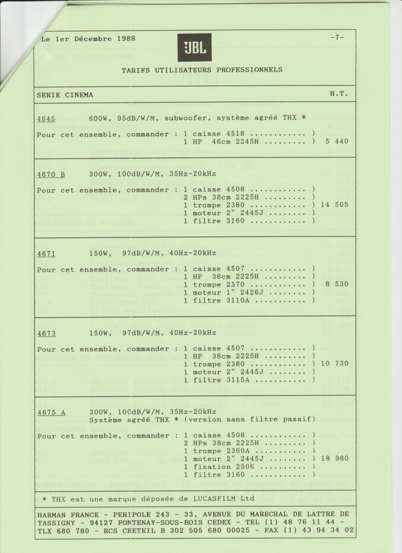 Tarif neuf du vintage pour donner une idée (gamme HIFI et pro de la fin des années 70 au début des années 2000) Numzo728