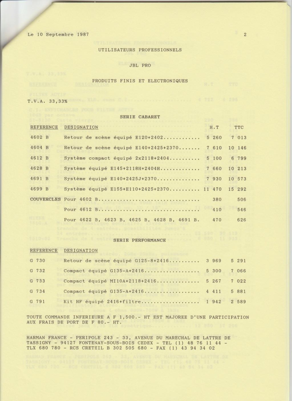 Tarif neuf du vintage pour donner une idée (gamme HIFI et pro de la fin des années 70 au début des années 2000) Numzo730
