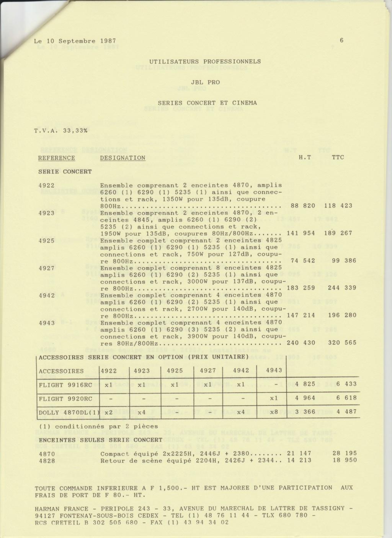 Tarif neuf du vintage pour donner une idée (gamme HIFI et pro de la fin des années 70 au début des années 2000) Numzo735