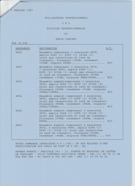 Tarif neuf du vintage pour donner une idée (gamme HIFI et pro de la fin des années 70 au début des années 2000) Numzo740