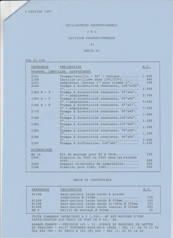 Tarif neuf du vintage pour donner une idée (gamme HIFI et pro de la fin des années 70 au début des années 2000) Numzo742