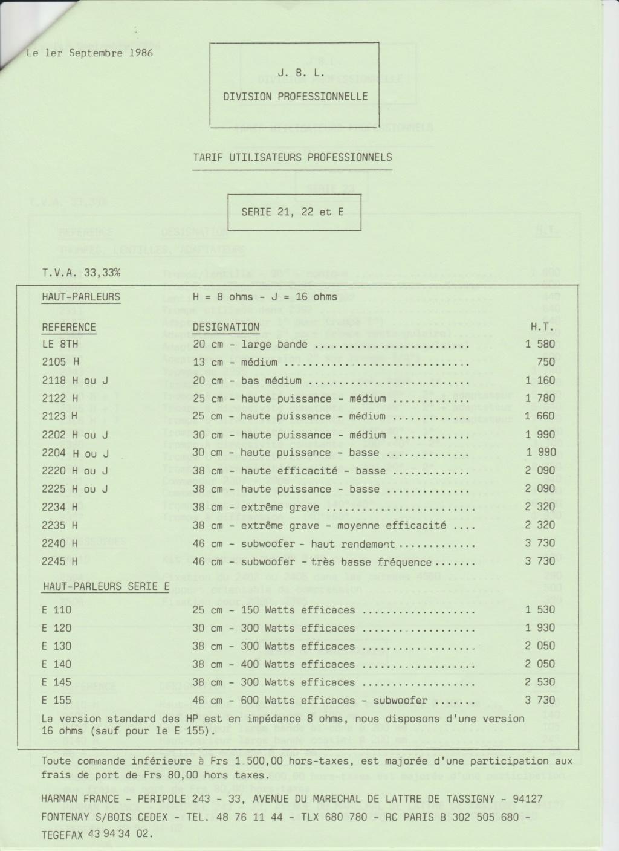 Tarif neuf du vintage pour donner une idée (gamme HIFI et pro de la fin des années 70 au début des années 2000) Numzo745