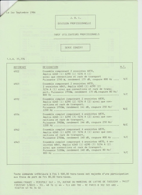 Tarif neuf du vintage pour donner une idée (gamme HIFI et pro de la fin des années 70 au début des années 2000) Numzo747