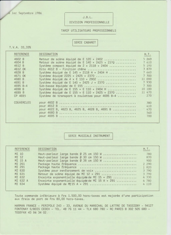 Tarif neuf du vintage pour donner une idée (gamme HIFI et pro de la fin des années 70 au début des années 2000) Numzo749