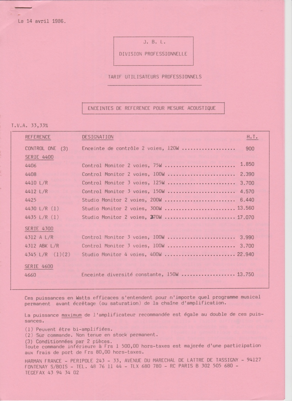 Tarif neuf du vintage pour donner une idée (gamme HIFI et pro de la fin des années 70 au début des années 2000) Numzo762