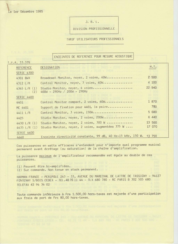 Tarif neuf du vintage pour donner une idée (gamme HIFI et pro de la fin des années 70 au début des années 2000) Numzo773