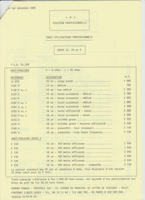 Tarif neuf du vintage pour donner une idée (gamme HIFI et pro de la fin des années 70 au début des années 2000) Numzo774