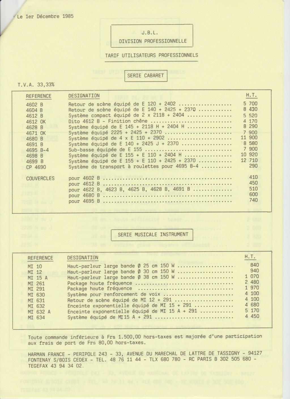 Tarif neuf du vintage pour donner une idée (gamme HIFI et pro de la fin des années 70 au début des années 2000) Numzo775