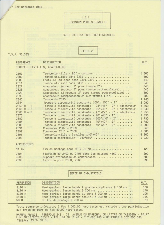 Tarif neuf du vintage pour donner une idée (gamme HIFI et pro de la fin des années 70 au début des années 2000) Numzo778