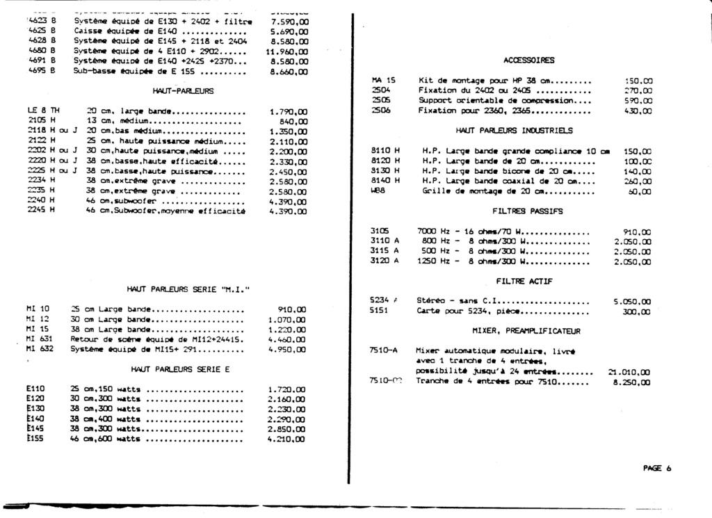 Tarif neuf du vintage pour donner une idée (gamme HIFI et pro de la fin des années 70 au début des années 2000) Numzo779
