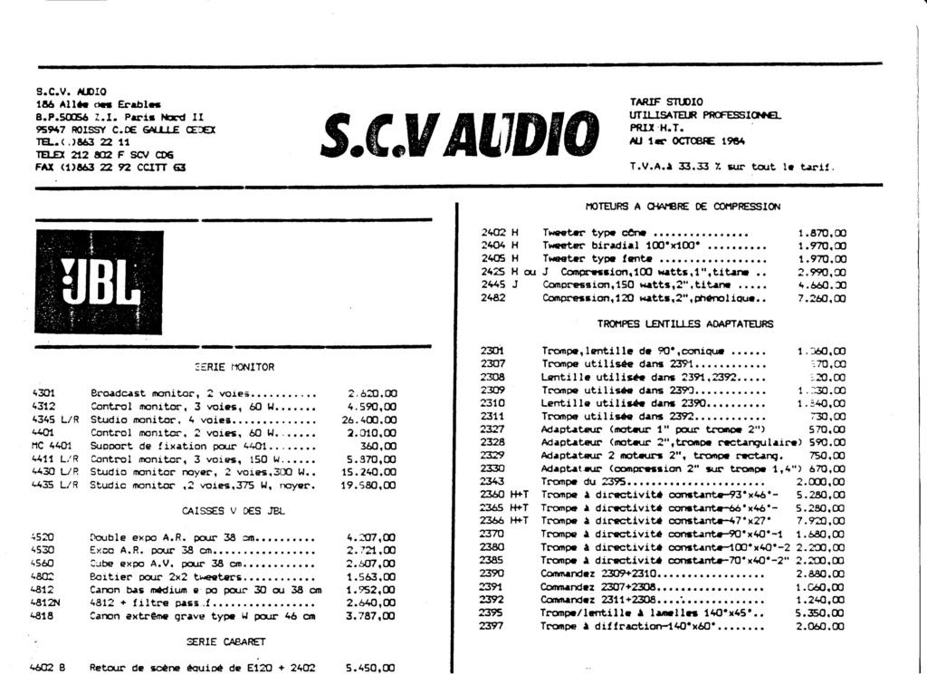 Tarif neuf du vintage pour donner une idée (gamme HIFI et pro de la fin des années 70 au début des années 2000) Numzo780