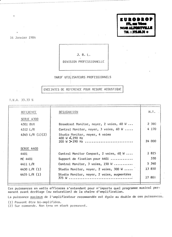 Tarif neuf du vintage pour donner une idée (gamme HIFI et pro de la fin des années 70 au début des années 2000) Numzo781