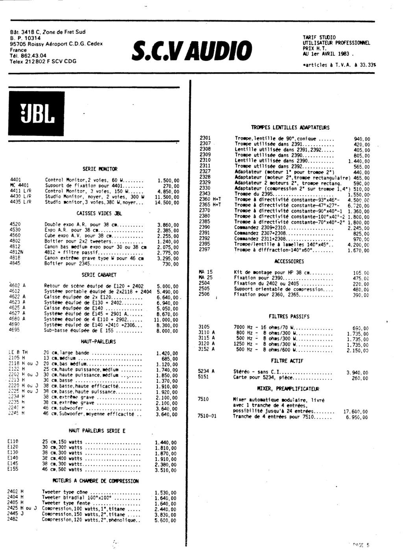 Tarif neuf du vintage pour donner une idée (gamme HIFI et pro de la fin des années 70 au début des années 2000) Numzo782