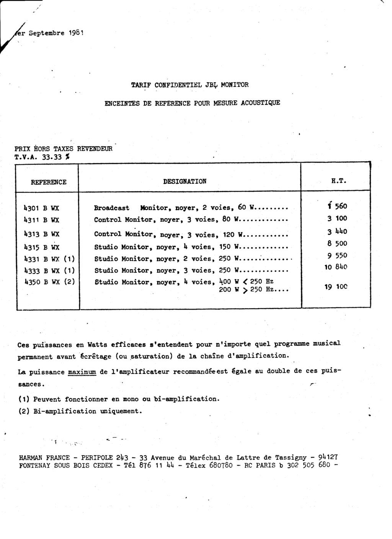 Tarif neuf du vintage pour donner une idée (gamme HIFI et pro de la fin des années 70 au début des années 2000) Numzo783