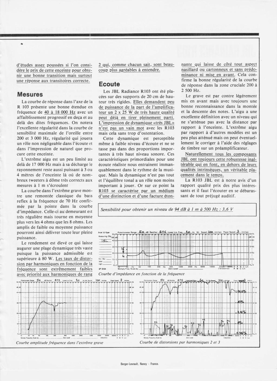 Modèle RADIANCE R103 Numzo906