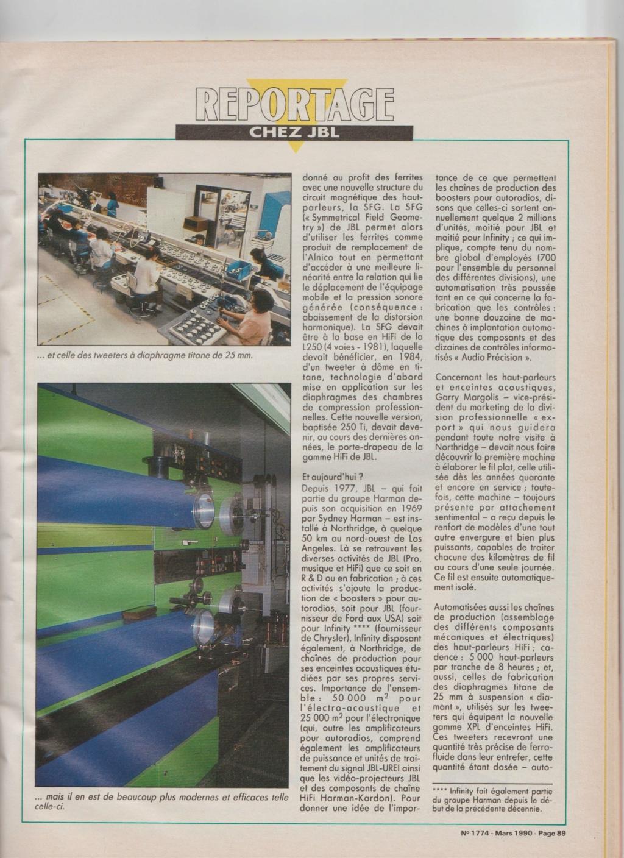 Visite usine de montage JBL mars 1990 à Northridge en Californie Numzo928