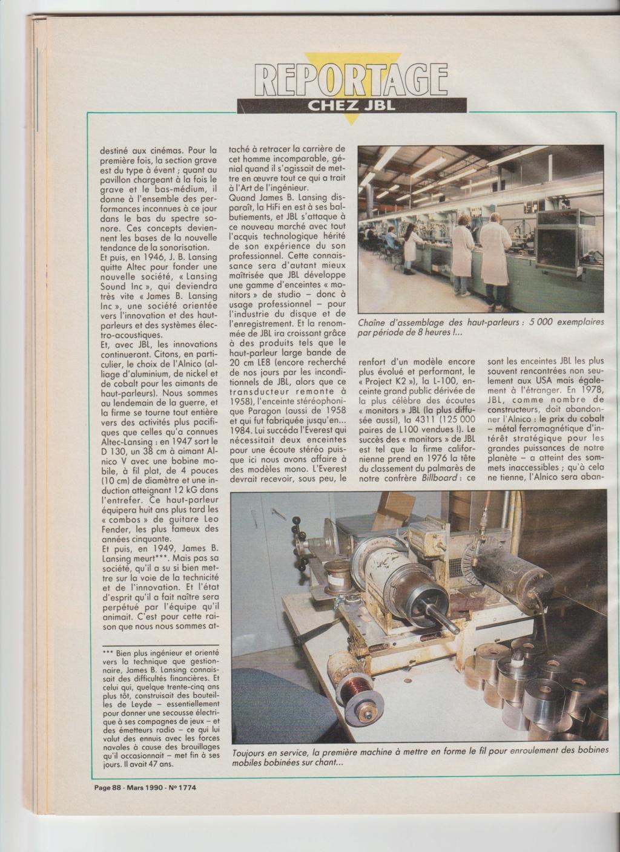 Visite usine de montage JBL mars 1990 à Northridge en Californie Numzo929