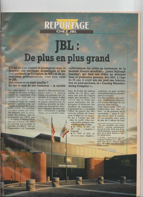Visite usine de montage JBL mars 1990 à Northridge en Californie Numzo930