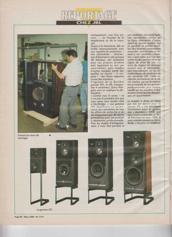 Visite usine de montage JBL mars 1990 à Northridge en Californie Numzo931