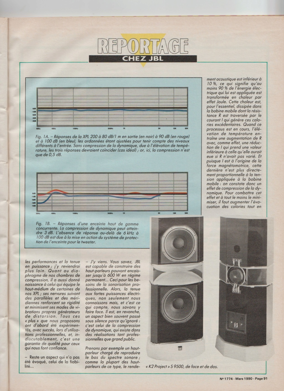 Visite usine de montage JBL mars 1990 à Northridge en Californie Numzo932