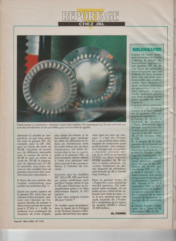 Visite usine de montage JBL mars 1990 à Northridge en Californie Numzo933