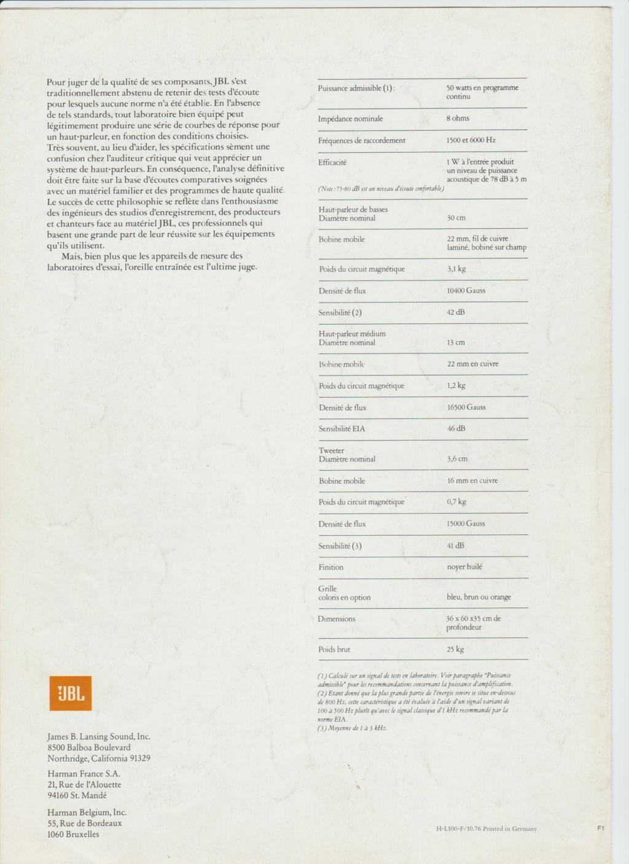 Modèle L100 CENTURY Numzor50