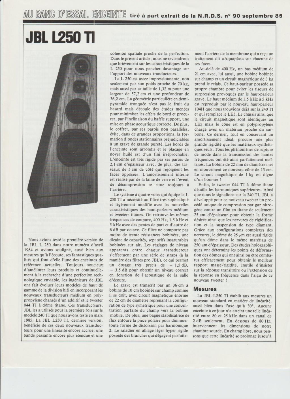 Modèle L250 Année 1982 Numzor82