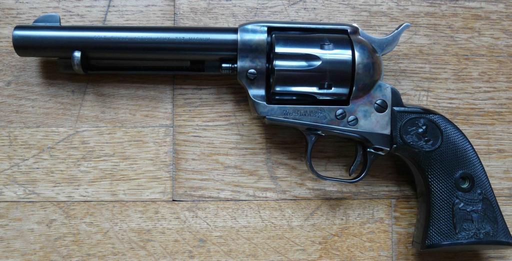 """Revolver COLT SAA 1873 5""""1/4 3ème gén. cal. 38/357 [Réservé] P1060821"""
