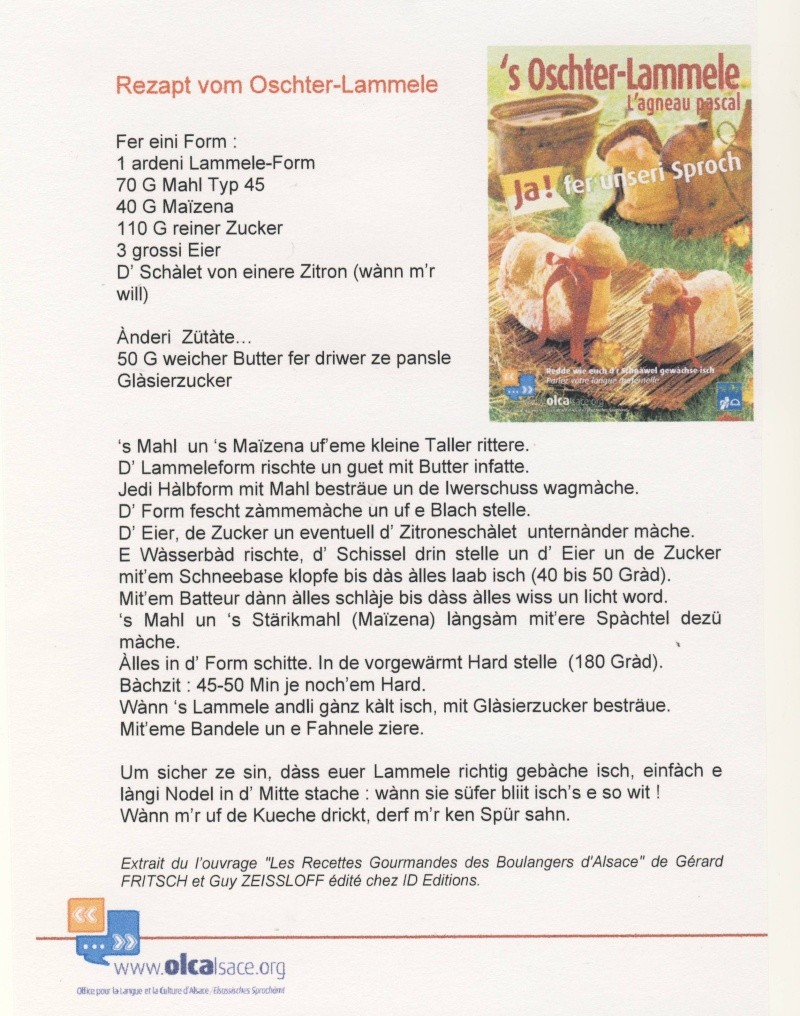 's Ochter-Lammele  / L'agneau Pascal Image128