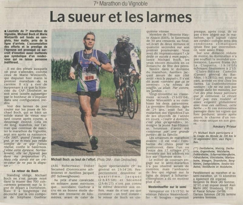 Le Marathon du Vignoble d'Alsace du 18 et 19 juin 2011:et c'est parti pour la 7ème édition qui passera bien entendu par Wangen! Image143
