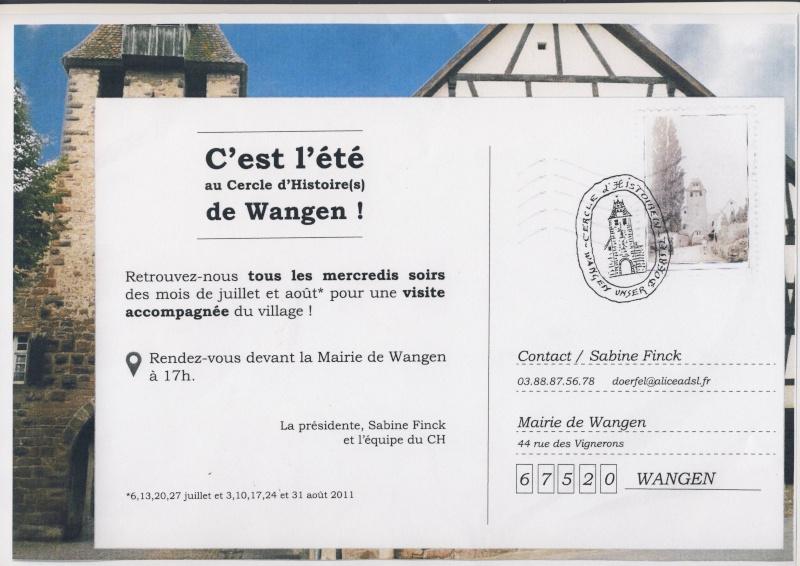Visite accompagnée du village tous les mercredis soirs des mois de juillet et août 2011 avec le Cercle d'Histoire(s) de Wangen Image146