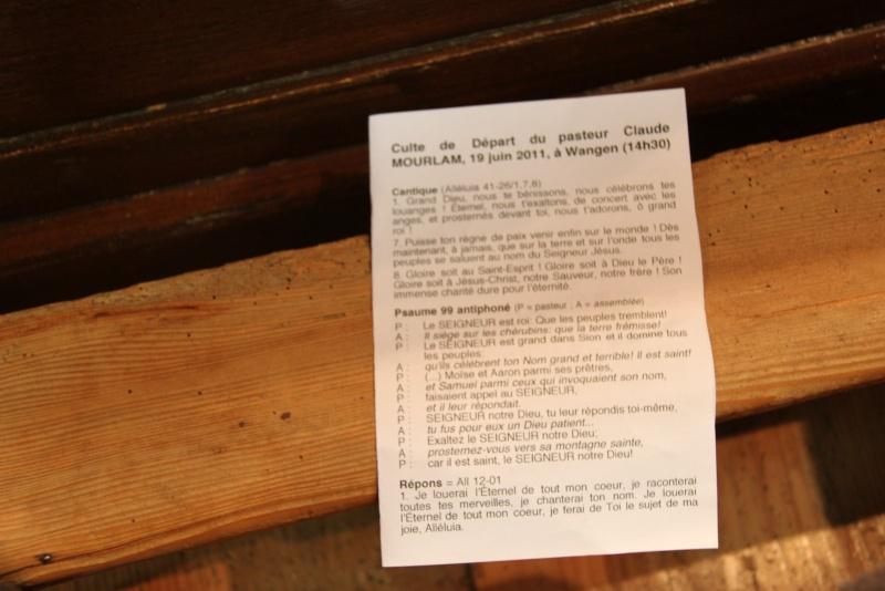 Culte de départ du Pasteur Claude Mourlam le 19 juin 2011 à 14h30 à l'église de Wangen Img_4612