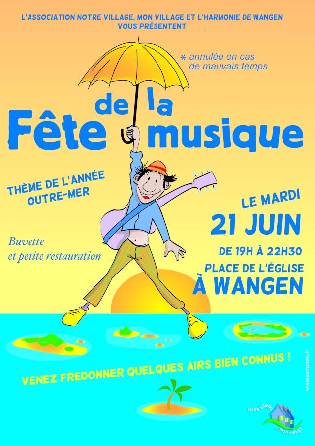 Fête de la musique à Wangen le mardi 21 juin de 19h à 22h30 Music211