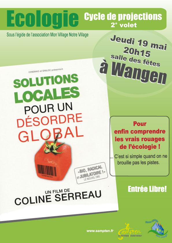 """Projection du film """" Solutions locales pour un désordre global""""jeudi 19 mai 2011 à la salle des fêtes de Wangen Soluti11"""