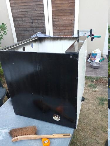 Fabrication de mon terrarium à Dendrobates en PVC expansé  recyclé !! 20190721