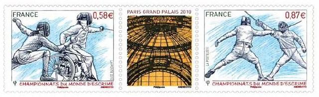 Timbres France (Escrime) - Championnats du Monde d'Escrime Escrim12