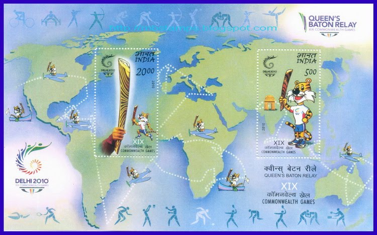 Timbres Inde - Jeux du Commonwealth 2010 (Delhi) Philat10