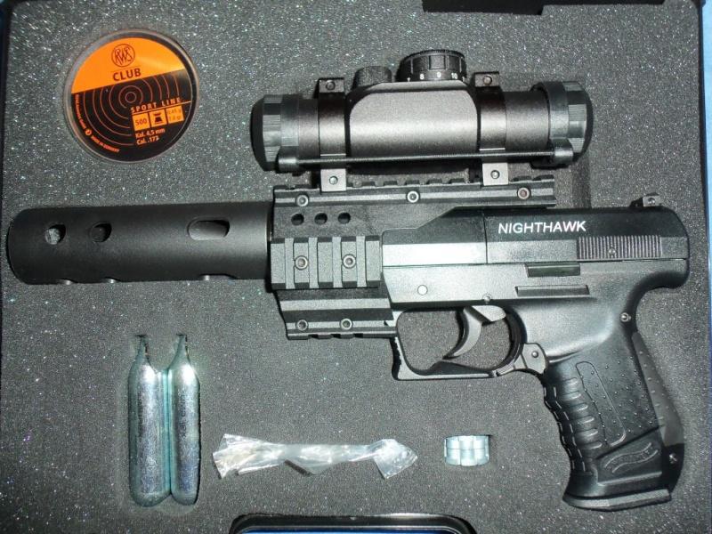 Mon 1er pistolet Co2: Umarex NIGHTHAWK...et son nouveau joujou 100_0116