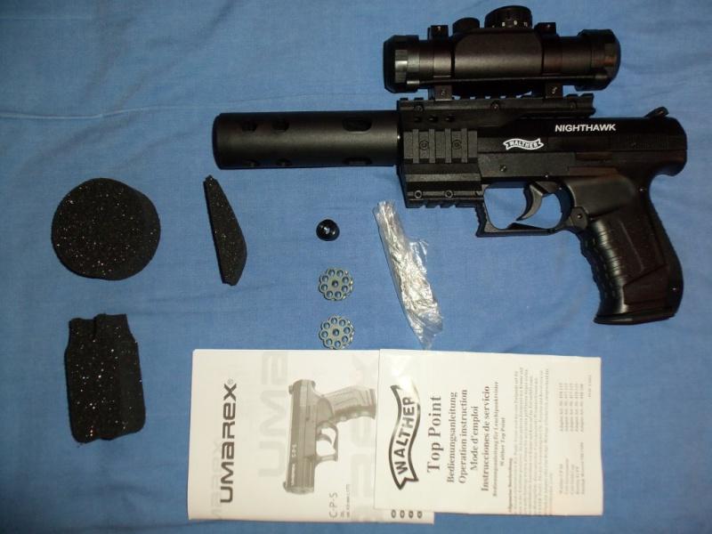 Mon 1er pistolet Co2: Umarex NIGHTHAWK...et son nouveau joujou 100_0118