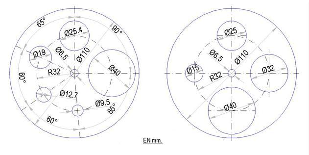 disques avec des diamètres différents pour les silhouettes de champ cible. Rond_p10