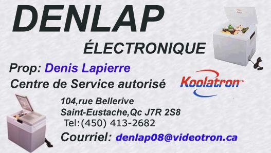 DENLAP ÉLECTRONIQUE  Centre de service  autorisé  Koolatron Denlap10