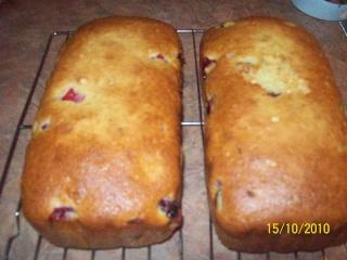 Pain gâteau aux canneberges de Tante Margaret Gateau13